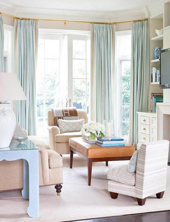 Vackra gardiner i vardagsrum